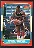 MYCHAL THOMPSON 1986/87 FLEER BASKETBALL CARD #111 TRAIL BLAZERS