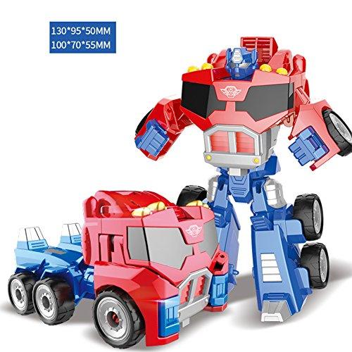 Liebeye 変形ロボット 車のモデルのおもちゃ パズル教育玩具 クリスマス の男の子のためのギフト 合金_ skyrim救済チーム