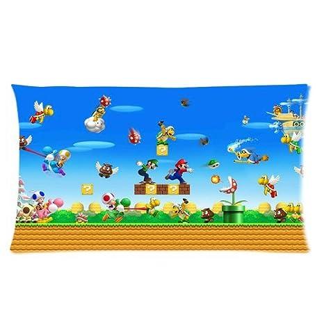 Trendsetter Super Mario Bros mundo Custom funda de almohada ...