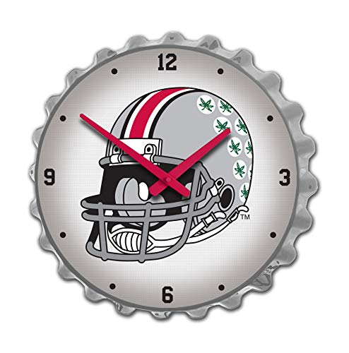 Shop Grimm Large Ohio State University Bottle Cap Wall Clock - Made in USA (OSU Helmet with Buckeye Stickers) - Ohio State University Wall Clock