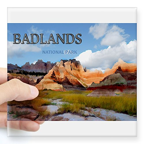 CafePress Mountains Sky in The Badlands National Pa Sticker Square Bumper Sticker Car Decal, 3