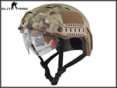 Paintball Equipment Casque de combat Fast de typeSWAT MulticamMC Military Outdoor