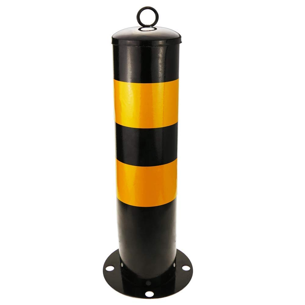 Security Driveway Parking Heavy Duty Steel Nailed Bollard with Removable Base Private Reserved Parking Driveway Bollard Security Post Bar
