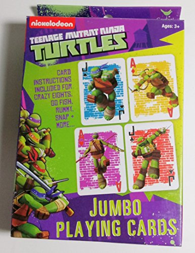 Teenage Mutant Ninja Turtles Jumbo Playing Cards - TMNT Card Deck