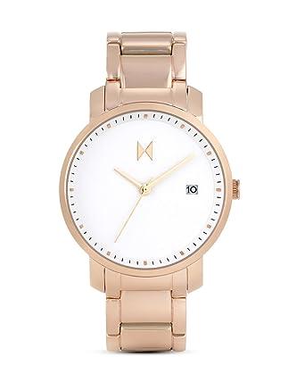 MVMT MF01-RG - Reloj de pulsera para mujer, correa de acero inoxidable, color blanco, rosa y dorado: Amazon.es: Relojes