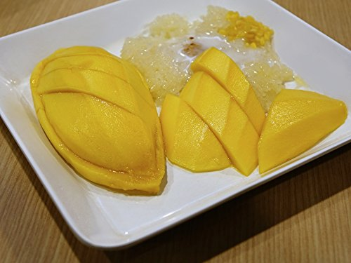 Coconut Mango Dessert (Home Comforts Framed Art for Your Wall Milk Mango Dessert Coconut Milk Sticky Rice Fruit 10x13 Frame)