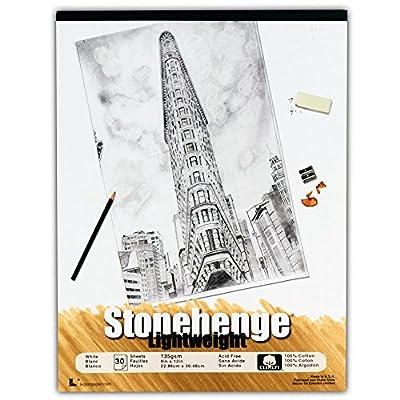Stonehenge Lghtwght Paper 9X12 Pad Wht 30Sht