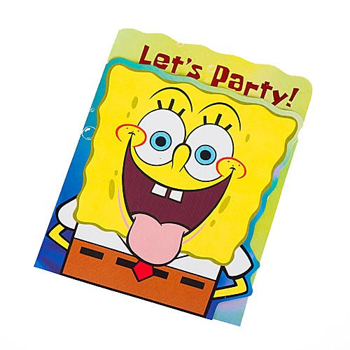 Spongebob Squarepants Party Invitations 8 count (Squarepants Party Spongebob Birthday Invitations)