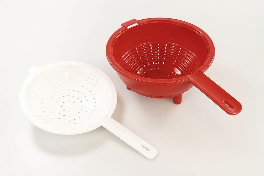 Tupperware Saladin Drainer + Colander Kitchen Set Red/White 10033