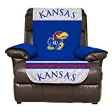 Reversible Couch Cover - College Team Sofa Slipcover Set / Furniture Protector - NCAA Officially Licensed (Recliner, University of Kansas Jayhawks (KU))