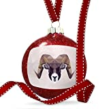 Christmas Decoration Low Poly zoo Animals Ram Ornament