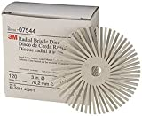3M (RB-ZB) Radial Bristle Disc, 3 in x 3/8 in 360 [You are purchasing the Min order quantity which is 40 Disc's]