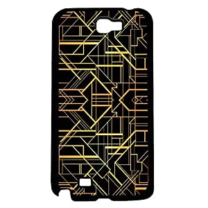 Black and Gold Pattern Hard Snap on Phone Case (Note 2 II)
