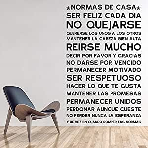 Versión en español Normas DE CASA Reglas de la casa Etiqueta de la ...