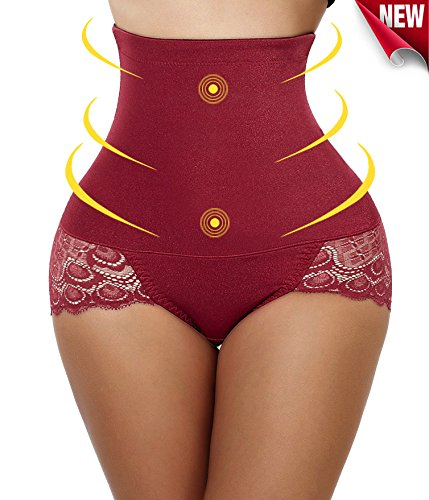 - Gotoly Hip Abundant,Body Shaper High Waist Tummy Control Butt Lifter Panty Slim Medium, Red(Smooth)
