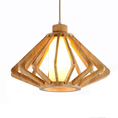 Candelabro de Madera Natural Colgante luz Cortinas Colgantes para ...