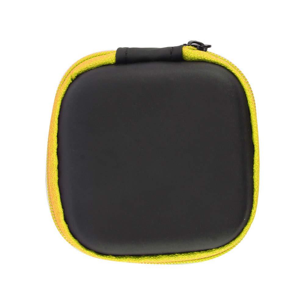 Prenine Mini Fermeture /Éclair Coque Rigide Casque Oreillettes Portable Pouch Box Cuir PU /Écouteurs de Protection Sac de Rangement Organiseur de c/âble USB 1 Pc Orange