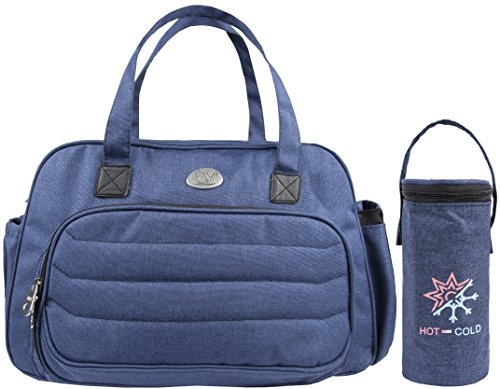Lilax Diaper Bag Multi-Function Waterproof Travel Designer Tote Stylish and Durable for Moms (Navy) (Define Spacious)