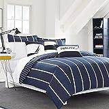 Nautica 221783 Knots Bay Comforter Set,Navy,Full/Queen
