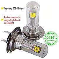 Wiseshine led fog light bulb DC9-30v 3 years quality assurance (pack of 2) 8 led high power