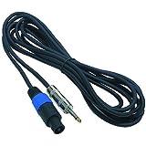 Profi PA-Lautsprecherkabel Boxenkabel NL2-auf-Klinke / 5m / Leiterstärke: 2x1,5qmm