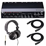 Steinberg UR44 Audio Interface with Headphones and 2 XLR Cables