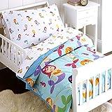 Wildkin Olive Kids Mermaids Bed in A Bag-Toddler Bedding (4-Piece)
