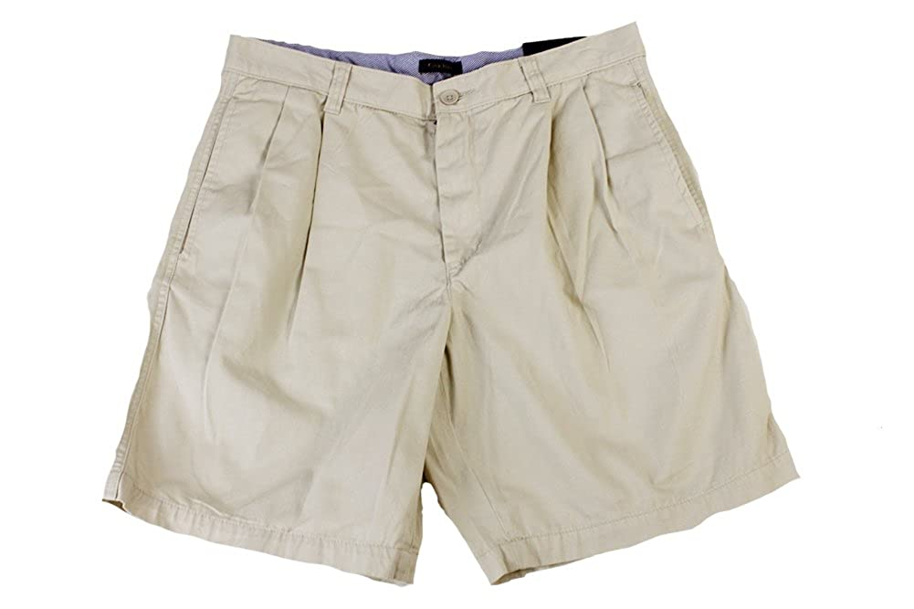 Club Room Men's Shorts Core Twill Double Pleated 9 Shorts 20501SS558