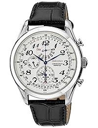 Seiko Men's SPC131 Silver Leather Quartz Watch