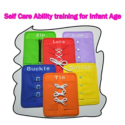 Children Pull the zipper, snap, wear buckle, wear rope, tied lace knotted six sets of learning board teaching aids childhood education - Knotted Buckle