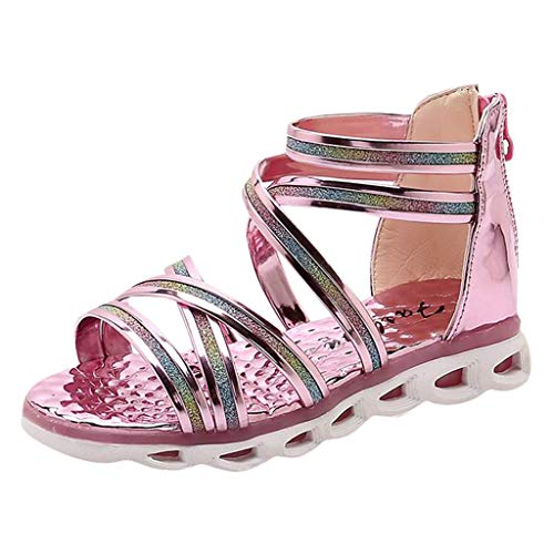SUNyongsh Child Beach Shoes, Toddler Infant Kids Baby Shoes Girls Sequins Princess Roman Sandals ()
