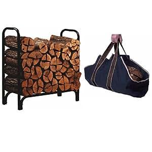 Panacea, Deluxe Outdoor Log Rack, Black