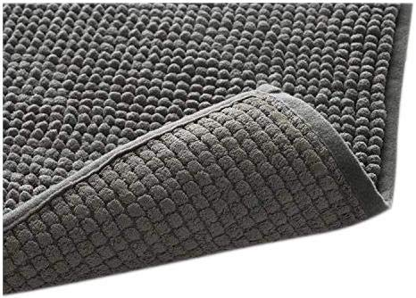 "Klickpick Designs Thick Plush Bath Mats Soft Bath Mat Chenille Washable Bath Rugs Microfiber Shaggy Non Slip Bathroom Rug Anti Slip Absorbent Bath Rug Carpet with Non Skid Backing (16"" x 24"", Gray) - [PRODUCT DETAILS]: Size :16x24 Inches l Color: Gray l Material:Polyester chenille microfiber l Non skid hot melt adhesive backing [TOP QUALITY BATH MAT FROM KLICKPICK]: Quality of the mat is exactly what you need to protect your feet from cold floors and bathroom floor and get ultimate comfort.We have so many different sizes and colors to offer which will definitely help you find one to suit your style and bathroom floor.Please check the variation available for these bath mats. [SUPER SOFT & SPA LIKE FEELING]:Super soft- Experience a spa-like sensation when stepping out of the shower or bath with this chenille bath mat under foot. Thanks to its thick chenille microfiber, the mat envelops and cushions your feet, offering a warm, dry, and exceptionally comfortable place to stand. In addition to being placed in front of the bath or shower, this mat also works well in front of a vanity for standing ease when getting ready in the morning. - bathroom-linens, bathroom, bath-mats - 51FTR9mpRlL -"
