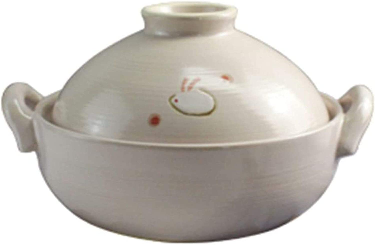 WANGP Moroccan Tagine Tagine Pot 6.3 Inches Clay Material with Lid No Pollution Easy to Clean 100% Handmade Clay Cookware Suitable for 1-3 People for Food Cooking