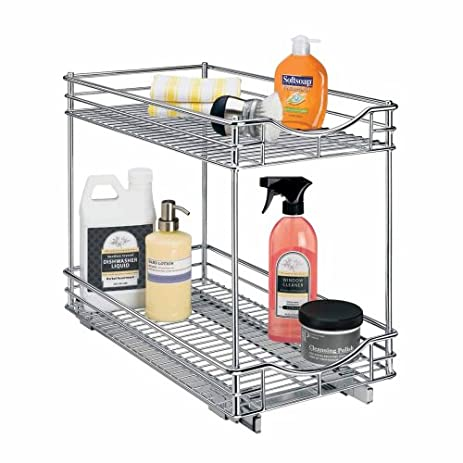 Amazon.com: Lynk Professional Roll Out Double Shelf - Pull Out Two ...