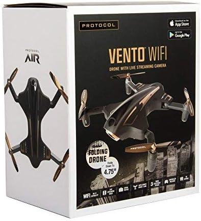 Protocol Vento WiFi Drone with Camera & Remote Control | Folding Arms for Easy Portability | Live Streaming Video Capability 51FTRLjMN3L