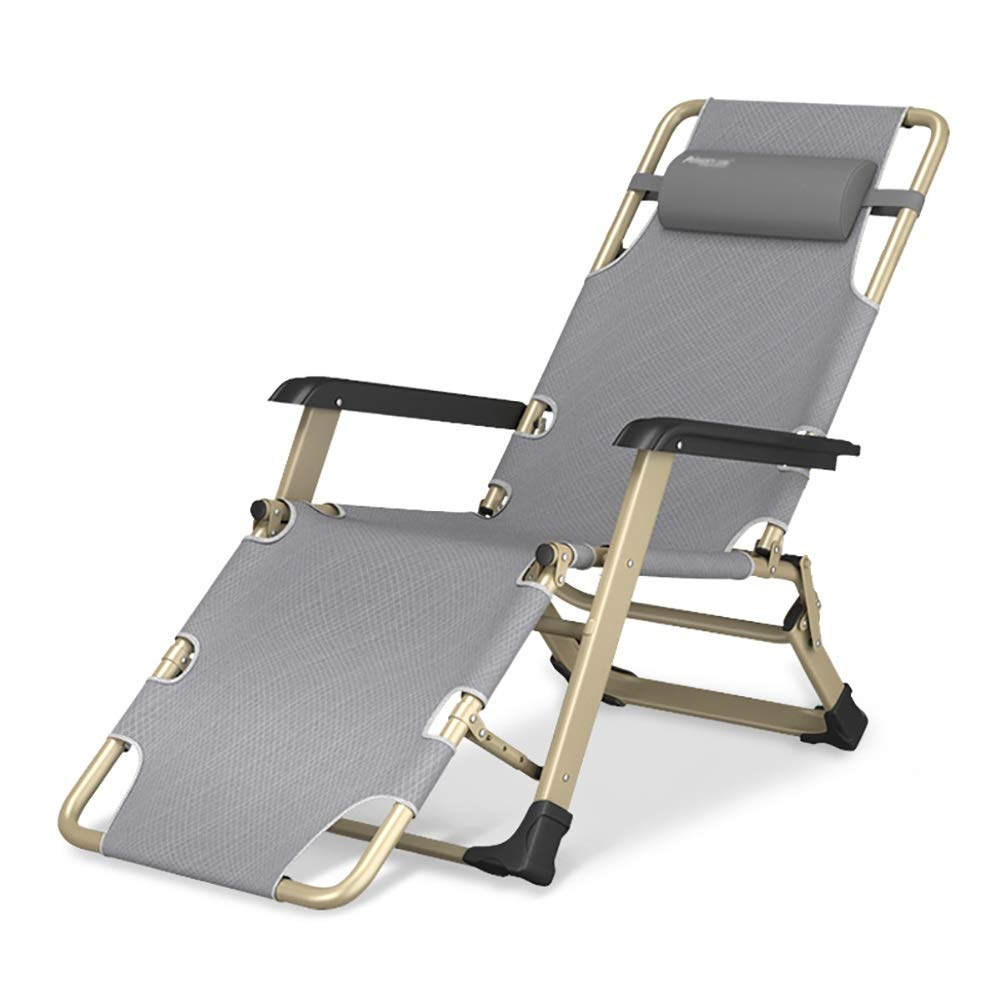 ラウンジチェア リクライニングパティオラウンジチェア、ヘビーデューティ人のための屋内/屋外特大折りたたみ長椅子 B07TBBM7LG