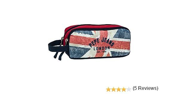 Pepe Jeans Estuche Niño con 2 Compartimentos, Diseño London Bandera: Amazon.es: Equipaje