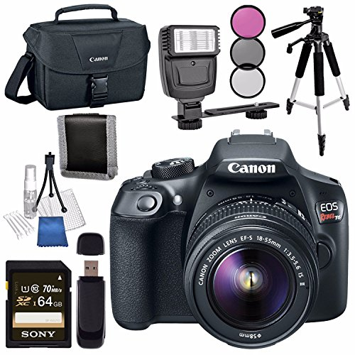 Canon EOS Rebel T6 DSLR Camera with 18-55mm Lens + Canon 100ES EOS Shoulder Bag Bundle