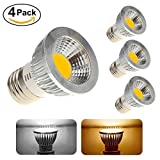 506 led bulb - E27 5W COB LED Spot Light Down Lamp 110V ,Flood Light Bulb ,50W Halogen bulb repalcement (4 pack, Cold White)