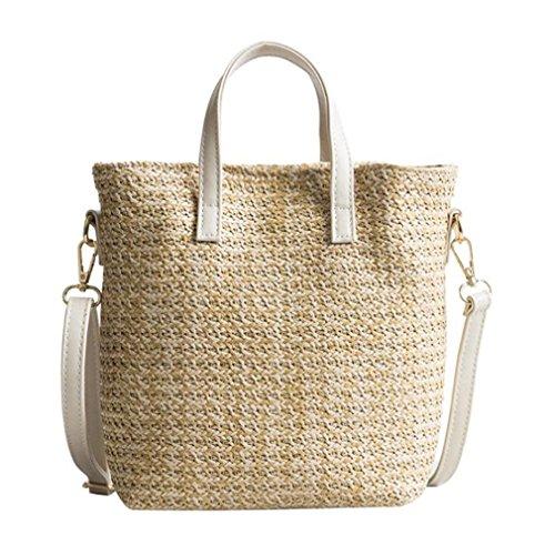 Linen Bag Shoulder Weave Rattan Tote Bucket Amuele Bags Beige Straw HandKnitting Beach Woven qgtYApwA