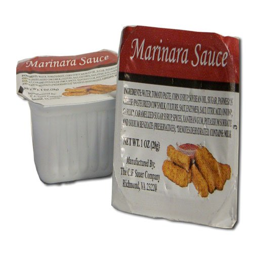 C.F. Sauer Foods Marinara Sauce, 1 Ounce - 100 per case.