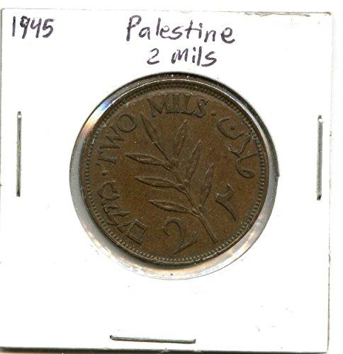 1945 Palestine 2 Mils #8209 - Palestine Coin