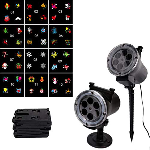 Fheaven (TM) Outdoor Light LED Projector Light 16 Pattern Landscape Lamp Projection For Halloween (B)]()