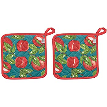 Now Designs 505901aa Potholders, Set of Two, Apple Orchard, 2 Piece