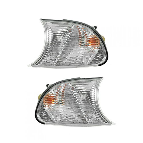 Clear Corner Parking Marker Light Lens Pair Set for 02-03 325CI 330CI 04-06 M3 - Pair Clear Lens