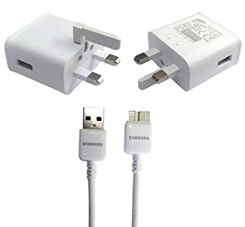 Samsung - UK Cargador con Tres Patillas con Cable de Datos ...