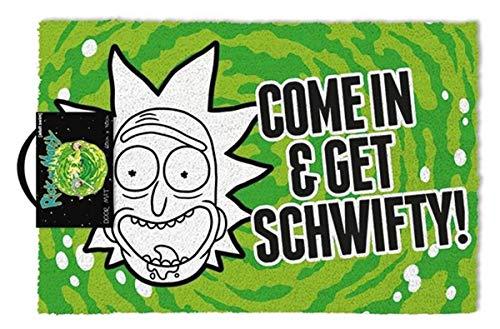 """Rick & Morty """"come In & Get Schwifty!"""" Door Mat"""