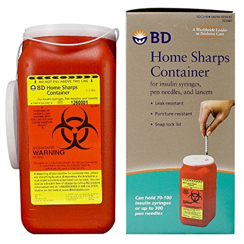 BD Home Sharps Container 1.4 qt/Each - 2 Pack