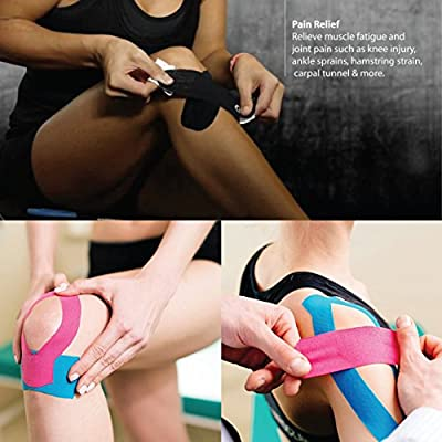 Strong-Rock Breathable h2o Resist Cotton.Roll,Uncut,2in x 16.4ft.Bulk k Beige Ankle Kinetic Sport Dynamic Physical Therapy Muscle 3-Pack Kinesiology Tape Pro Athletic Sports Knee